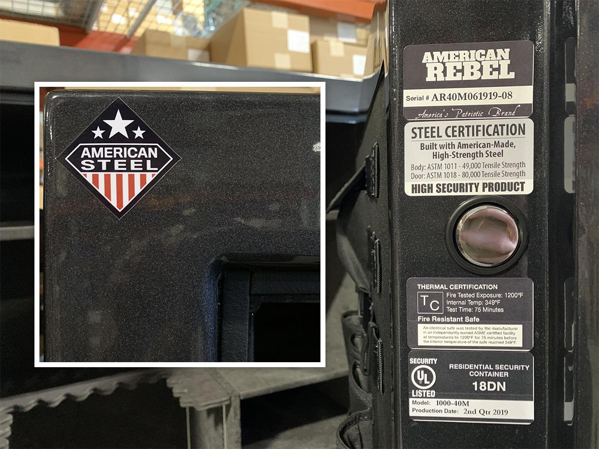American Rebel Gun Safe Security Features
